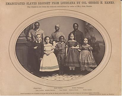 Myron H. Kimball, Emancipated Slaves Brought from Louisiana by Colonel George H. Banks, 1863. Metropolitan Museum of Art, New York.