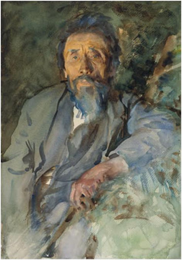 A Tramp, circa 1904–6. by John Singer Sargent (50.8 x 35.6 cm).Brooklyn Museum