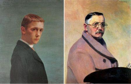 Right: Self Portrait, 1914. Oil on Canvas.