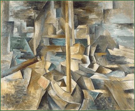 Georges Braque: Der Hafen, 1909. Öl auf Leinwand, 40,6 x 48,2 cm. Washington, National Gallery of Art.