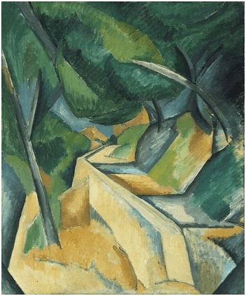 Camino cerca de L'Estaque (1908), de Georges Braque