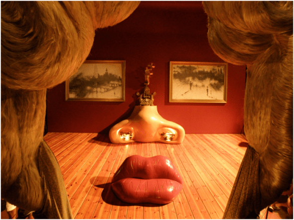 Salvador Dalí, Mae West Room. Dalí Theater and Museum, Figueres.