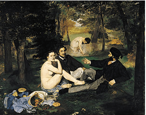 The Luncheon on the Grass, 1862-1863. Oil on canvas, 208 x 265.5 cm. Musée d'Orsay, Paris.