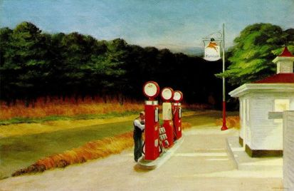 Edward Hopper, Gas, 1940, huile sur toile, 66.7 x 102.2 cm, Museum of Modern Art, New-York.
