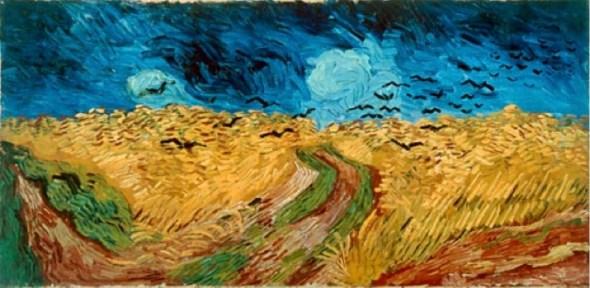 Vincent van Gogh, Weizenfeld mit Raben, 1890. Öl auf Leinwand, 103 x 50,5 cm. Van Gogh Museum, Amsterdam.