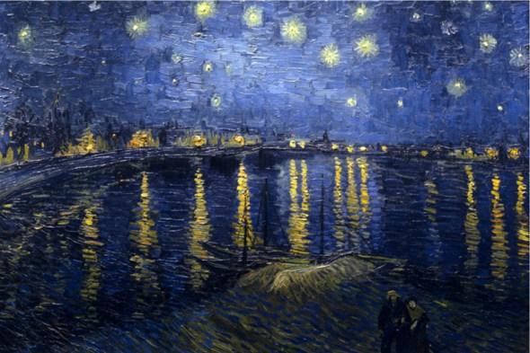 Vincent van Gogh, La nuit étoilée sur le Rhône, 1888. Peinture à l'huile. Musée d'Orsay, Paris.