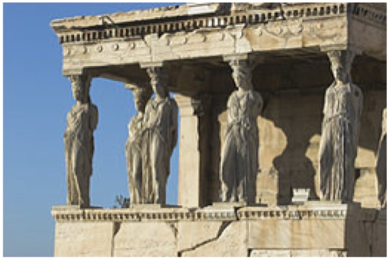 Karyatiden des Erechtheions, Akropolis, Athen, 421-407 v. Chr.