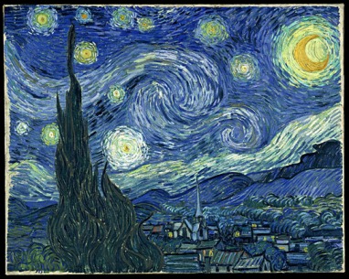Vincent van Gogh, Notte stellata, giugno 1889. Olio su tela, 73,7 x 92,1 cm. The Museum of Modern Art, New York.