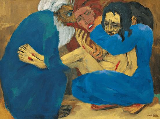 Emil Nolde, Die Grablegung, 1915.