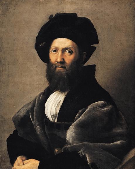 Rafael, Retrato de Baldassare Castiglione, 1514-1515. Musée du Louvre, París.