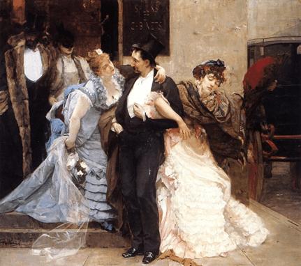 Charles Hermans L'aube (détail), 1876.