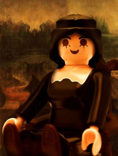 Richard Unglick La Joconde de Léonard de Vinci Playmobil ®