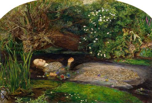 John Everett Millais, Ophélie, 1851-1852.