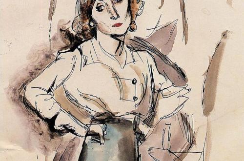 Hermine David, 1915 Crayon et aquarelle, 21,5 x 32 cm Musée d'Israël, Jérusalem
