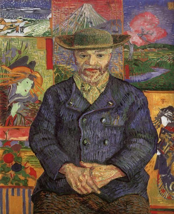 Vincent van Gogh, Le PèreTanguy, 1887. Öl auf Leinwand, 92 x 75 cm. Musée Rodin, Paris.