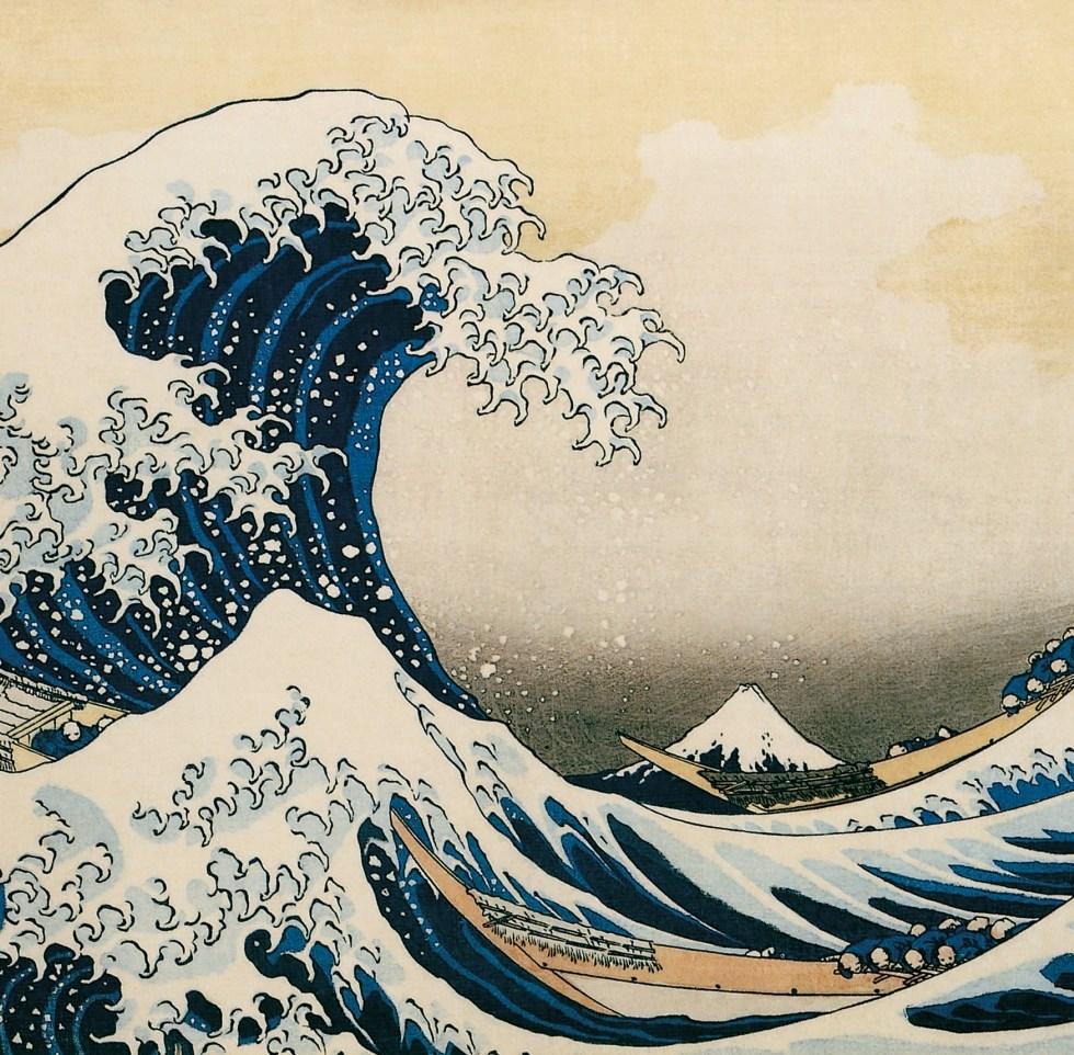 Katsushika Hokusai, Under a Great Wave off the Coast at Kanagawa (Kanagawa oki namiura), from the series Thirty Six Views of Mount Fuji (Fugaku Sanjurokkei), 1830-1832.