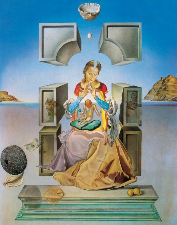 Salvador Dalí, Die Madonna von Port Lligat, 1949. Öl auf Leinwand, 143,9 x 95,8 cm. Haggerty Museum of Art, Marquette University, Milwaukee.