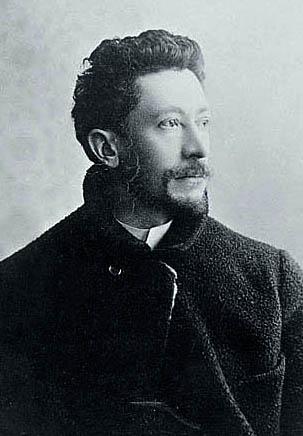 Émile Gallé en 1889. Tirage sur papier albuminé. Collection particulière