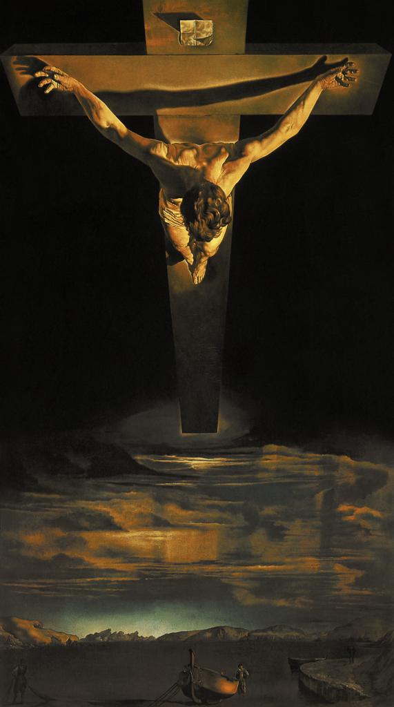 Salvador Dalí, Christus des Heiligen Johannes vom Kreuz, 1951. Öl auf Leinwand, 205 x 166 cm. Kelvingrove Art Gallery and Museum, Glasgow.