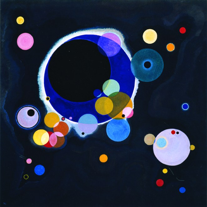 Several Circles, January - February 1926. Oil on canvas, 140.3 x 140.7 cm. Solomon R. Guggenheim Museum, New York.