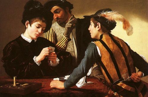 I Bari, 1594. Olio su tela, 94,2 x 130,9 cm. Kimbell Art Museum, Fort Worth, Stati Uniti.