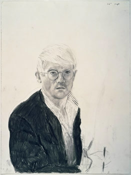 David Hockney, Self-Portrait, 26th September 1983, 1983. Charcoal on paper, 76.2 x 57.2 cm. Collection of the artist.