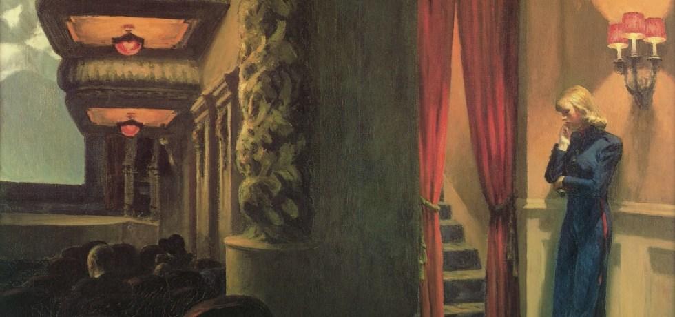 Kino in New York, 1939. Öl auf Leinwand, 81,9 x 101,9 cm. The Museum of Modern Art, New York.