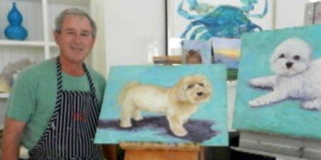 George Bush mag Hunde.