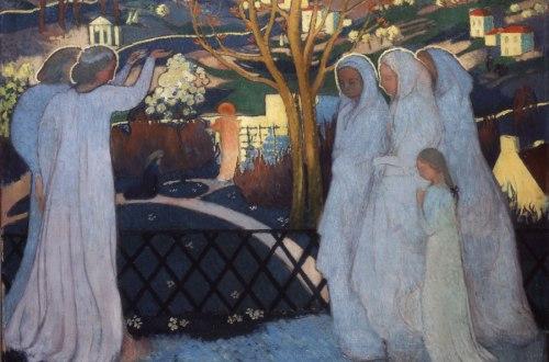 Maurice Denis, Saintes Femmes au tombeau (Matinée de Pâques), 1894. Huile sur toile. Musée départemental Maurice Denis, Saint-Germain-en-Laye.