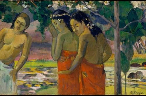 Paul Gauguin, Trois Femmes Tahitiennes, 1896. Huile sur bois, 24,4 x 43,2 cm. The Metropolitan Museum of Art, New York.