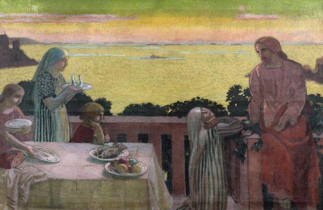 Maurice Denis, Perros-Guirec, Jésus chez Marthe et Marie, 1917. Huile sur toile. Collection privée.