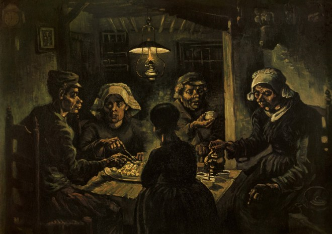 Vincent Van Gogh, The Potato Eaters, 1885. Oil on canvas, 82 x 114 cm. Van Gogh Museum, Amsterdam.