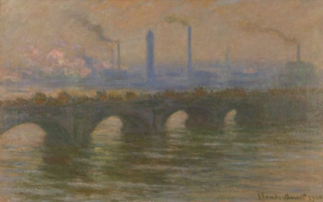 Claude Monet, Le Pont Waterloo, Londres, 1900. Huile sur toile, 65 x 100 cm. Gallery of Modern Art, Dublin.