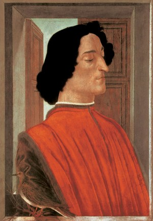 Giuliano de' Medici (1453-1478), um 1478. Tempera auf Holz, 75,5 x 52,5 cm. National Gallery of Art, Washington D.C.