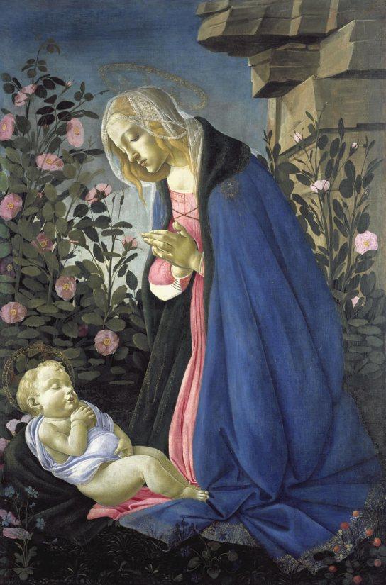 The Virgin adoring the sleeping Christ child ('The Wemyss Madonna'), c1485.