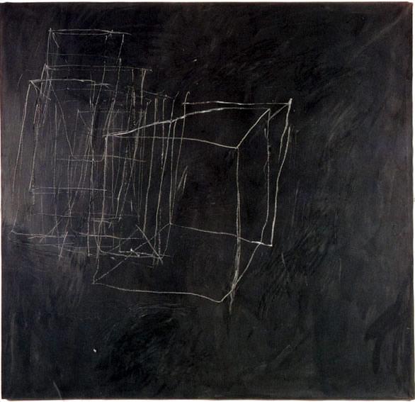 Cy Twombly, ???, 1966. Tempera und Bleistift auf Leinwand, 190 x 200 cm. Privatsammlung