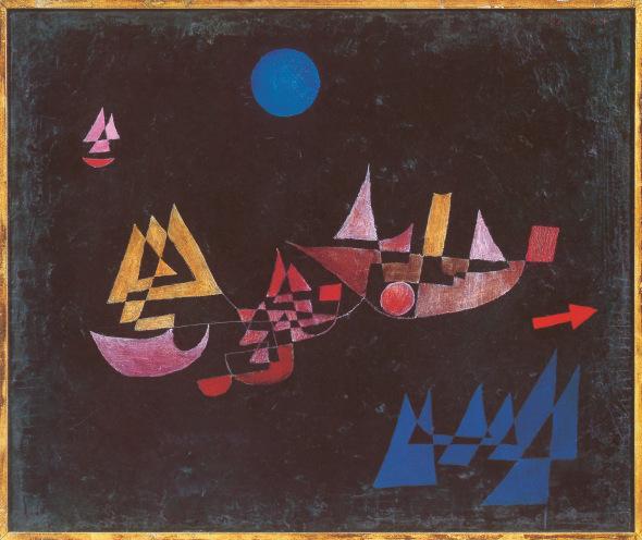 船舶出发,1927年,布面油画,50×60厘米。私人收藏,瑞士