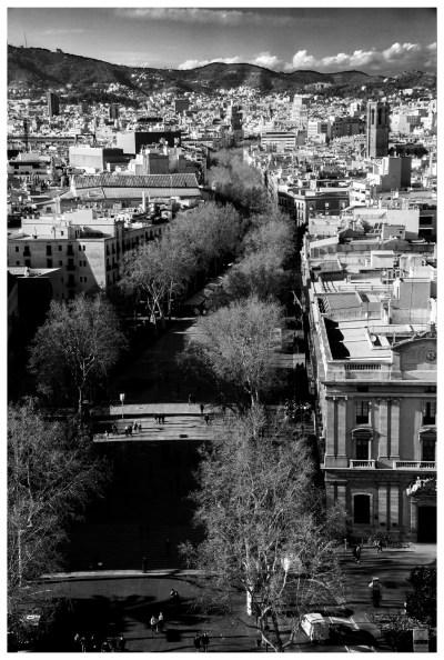 Les Ramblas vues du haut du mirador Colomb (©jmg)