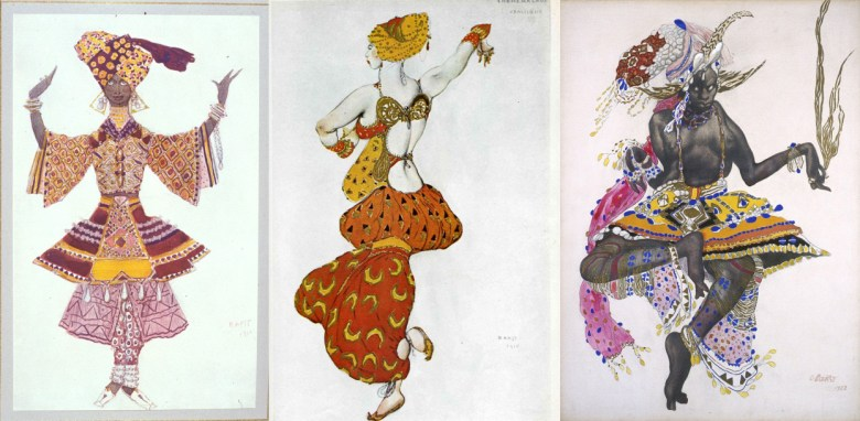 Leon Bakst. Costume design for Le Dieu bleu. 1912