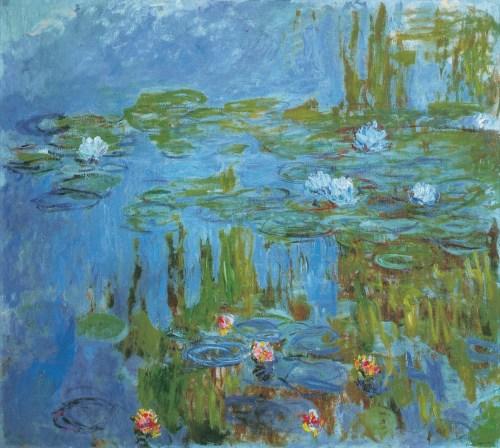 Nymphéas, 1914-1915. Huile sur toile, 160 × 180 cm. Portland Art Museum, Portland.