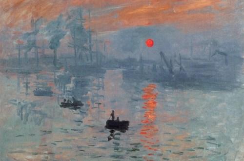 Impression, soleil levant, 1872. Huile sur toile, 48 × 63 cm. Musée Marmottan Monet, Paris.