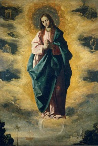 Francisco de Zurbarán, La Inmaculada Concepción (1628 – 1630). Óleo sobre lienzo, 128 x 89 cm. Museo del Prado, Madrid.