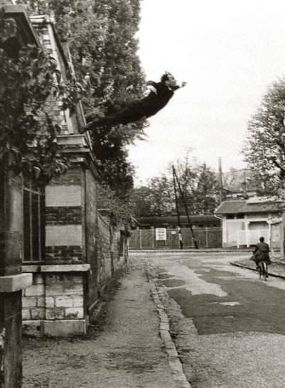 Yves Klein. Leap Into the Void. 1960. Photograph.