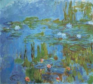 Claude Monet, Water Lilies, 1914-1915, Impressionism