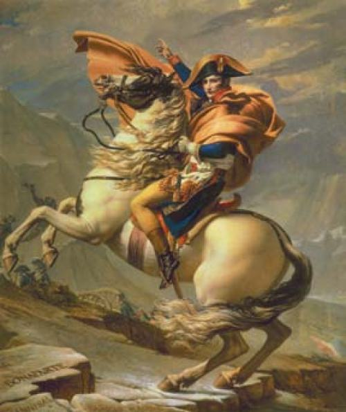 Portrait Napoleon Crossing the Alps at the St. Bernard Pass
