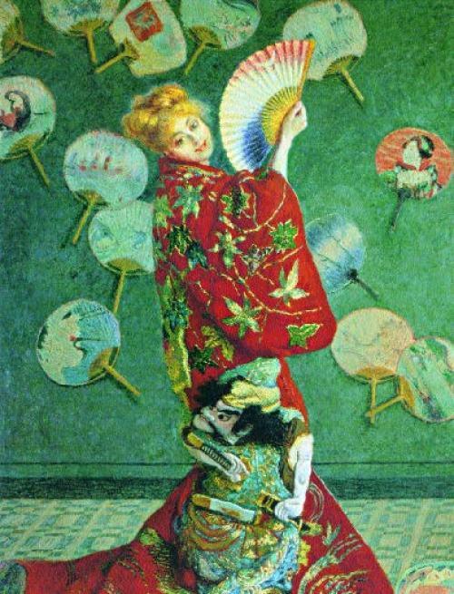 Claude-Monet-Franzose-Die Japanerin-Camille-Monet-im