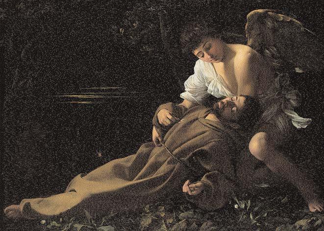 Caravaggio-Extase-de-saint-François-d'Assise