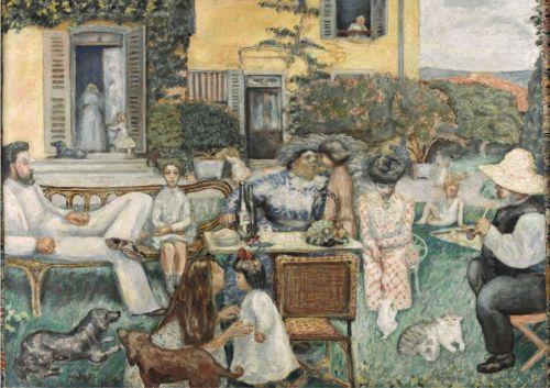 Pierre-Bonnard-L'Après-midi-bourgeoise-ou-la-Famille Terrasse