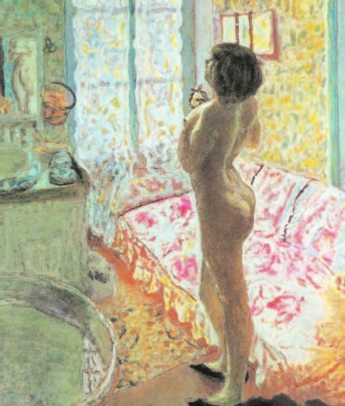 Pierre-Bonnard-Weiblicher-Akt-im-Gegenlicht-Das-Toilettenzimmer