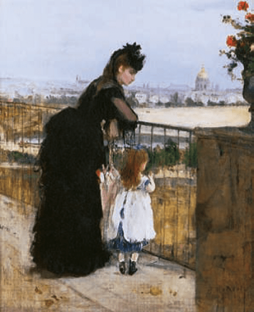 Berthe-Morisot-Woman-and-Child-on-a-Balcony